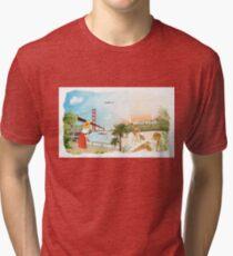 San Francisco + Los Angeles Tri-blend T-Shirt