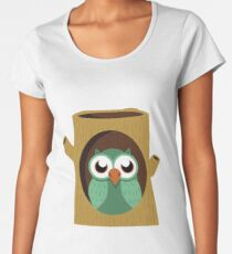Owl in a Tree Women's Premium T-Shirt