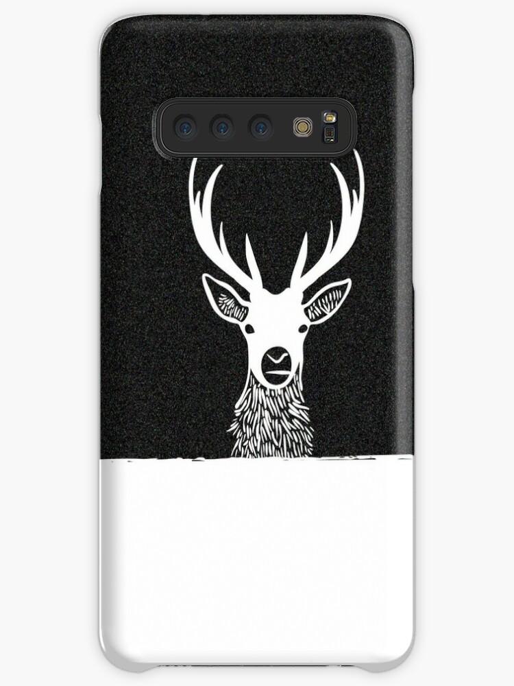 'Deer Head Silhouette' Case/Skin for Samsung Galaxy by hebstreit