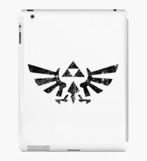 Cool Hyrule Coat of Arms - Distressed Design for Zelda Fans iPad Case/Skin