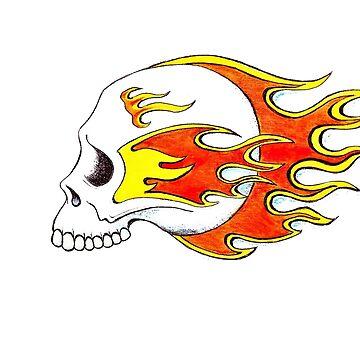 Flaming Skull by Housh68