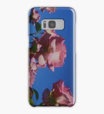Pink Rose; Blue Sky  Samsung Galaxy Case/Skin