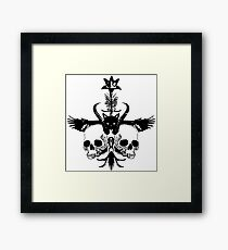 The Flying Black Cat Spell / Orphan / Orange Framed Print