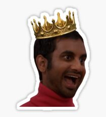 aziz ansari ~ tom haverford crown Sticker