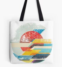 Digital Sun Horizon  Tote Bag