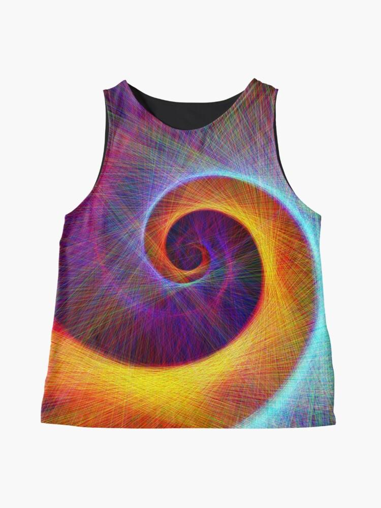 Alternate view of Fibonacci spiral, linify Sleeveless Top