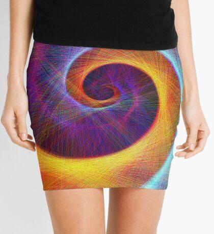 Fibonacci spiral, linify Mini Skirt