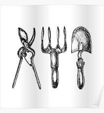 Gardening tools Poster