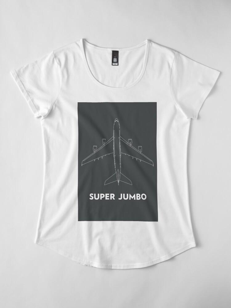 Alternate view of Super Jumbo Airbus A380 Premium Scoop T-Shirt
