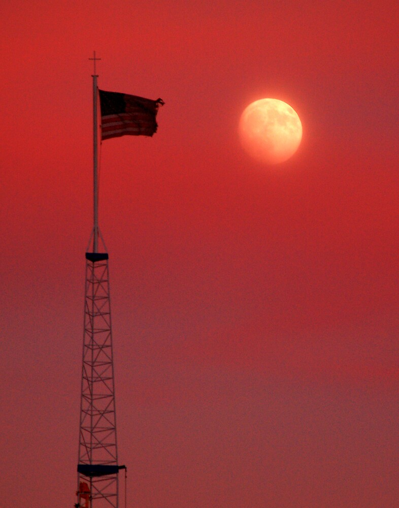 Moon Flag 1 by Jon  Johnson