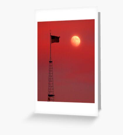 Moon Flag 1 Greeting Card
