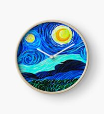 Van Gogh Tribute Clock