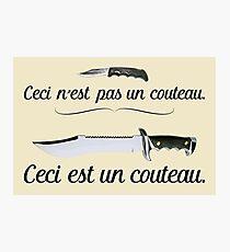 """""""Ceci n'est pas un couteau"""" – Magritte Design Photographic Print"""