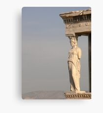 She is  Beautiful Athens Greece Canvas Print