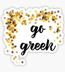 go greek sparkles Sticker