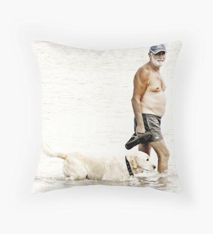 Walking the Dad Throw Pillow