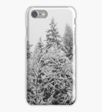 Snow winter landscape, trees and pines iPhone Case/Skin