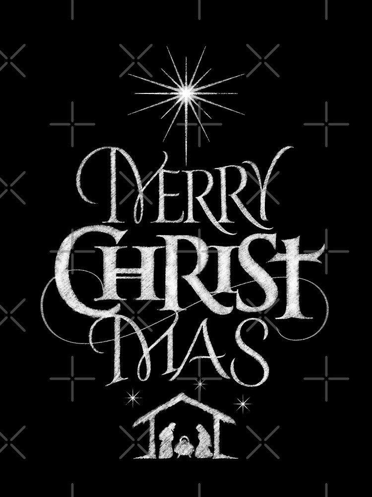 merry christmas religious christian calligraphy christ mas chalkboard jesus nativity by 26 characters