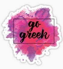 go greek watercolor Sticker