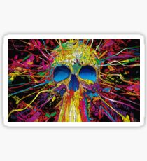 The abstract skull colorful Sticker