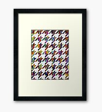 Which Came First, Galaga or Houndstooth? Framed Print