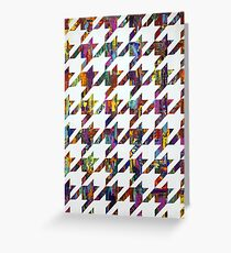 Which Came First, Galaga or Houndstooth? Greeting Card