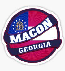 Macon Georgia scroll burst Sticker