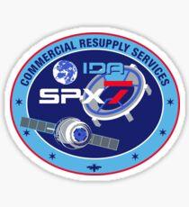 SpX-7 NASA Logo Sticker