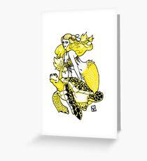 Mermaid & Turtle Greeting Card