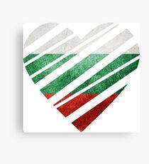 Bulgaria Heart Canvas Print