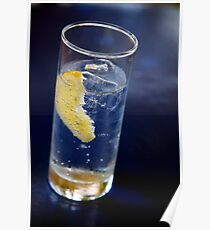 Tonic with Lemon Poster