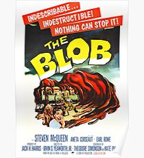 The Blob - Vintage Sci-Fi Horror Movie Poster Poster