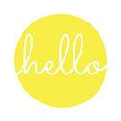 Hello Yellow Minimalist Dot Modern Cursive Font Design by DesIndie