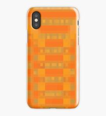 Orange Checks iPhone Case