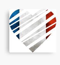 France Heart Canvas Print