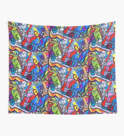 Musical Instruments Wall Tapestry