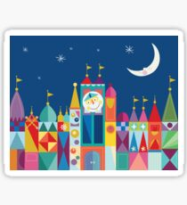 It's A Small World Castle With Moon and Stars Bold Rainbow Color Print and Decor Sticker