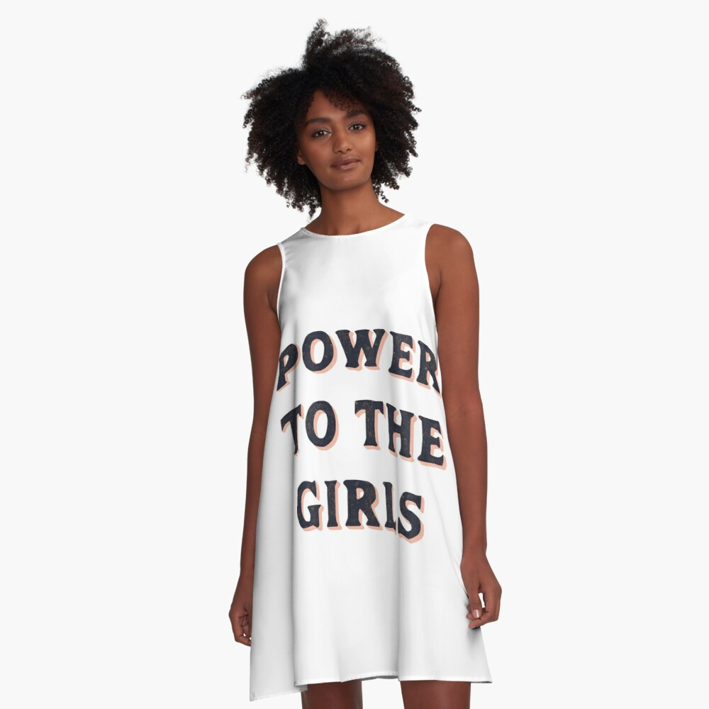 Power To The Girls A-Line Dress