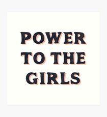Lámina artística Poder para las chicas