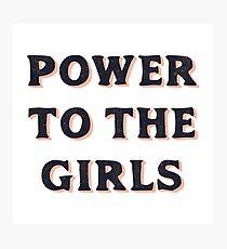 Power für die Mädchen Fotodruck