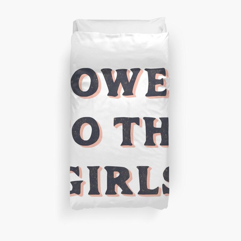 Power To The Girls Duvet Cover