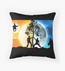 Dayman vs Nightman Throw Pillow