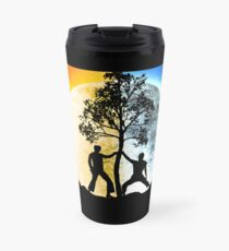 Dayman vs Nightman Travel Mug
