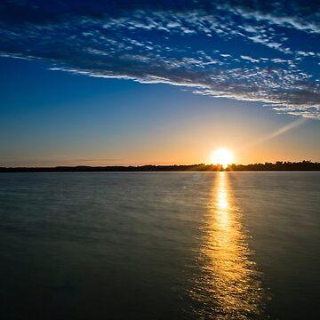 Sundown at Lake Clifton  by Sandra