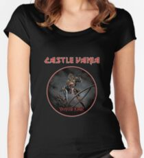 CASTLEVANIA & IRON MAIDEN Women's Fitted Scoop T-Shirt