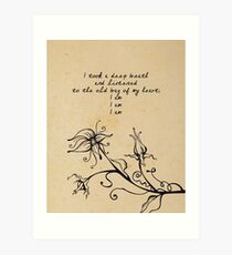 Sylvia Plath - I am, I am, I am. Art Print
