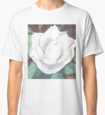 White Camellia Watercolor Classic T-Shirt
