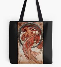 'Dance' by Alphonse Mucha (Reproduction) Tote Bag