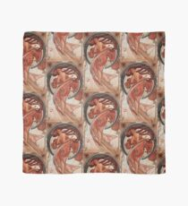 'Dance' by Alphonse Mucha (Reproduction) Scarf