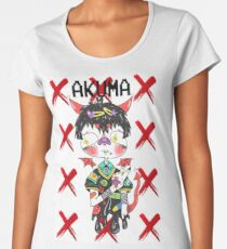 Kawaii Melting Japanese Demon Women's Premium T-Shirt